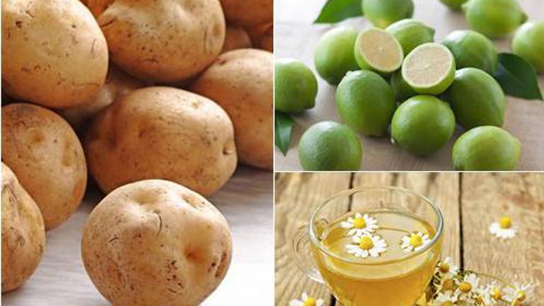 cách làm thuốc nhuộm tóc tại nhà từ trà hoa cúc, khoai tây và chanh dây