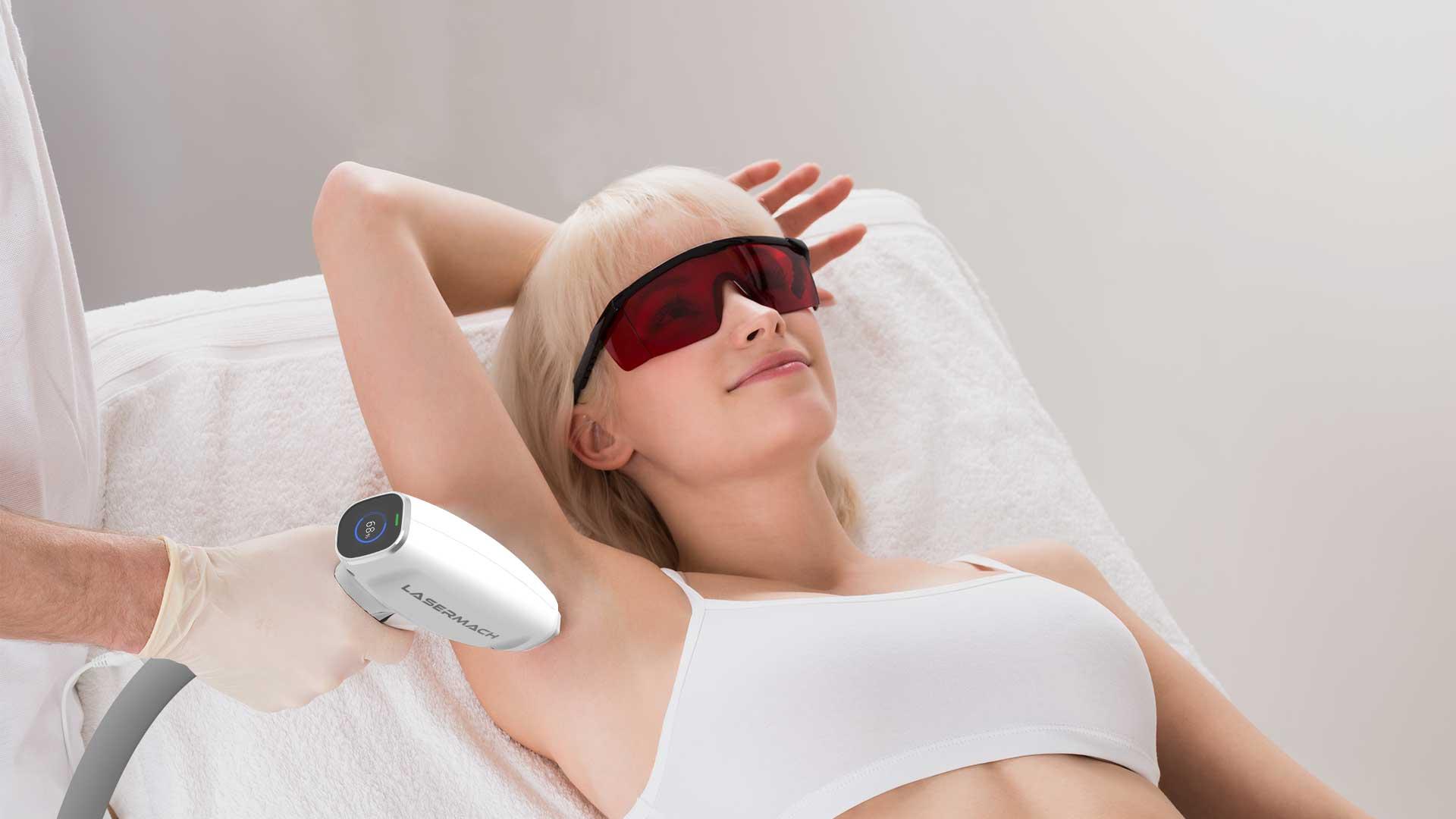 máy triệt lông lasermach pro 3 bước sóng
